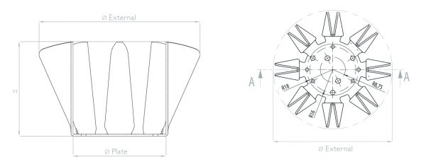 dissipatori per lampade led Easy schema